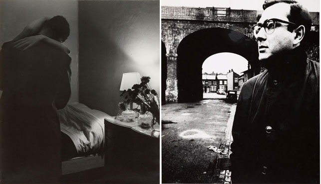 "Left: Bill Brandt. Soho Bedroom. 1934. Gelatin silver print, 8 3/4 x 7 9/16"" (22.2 x 19.2 cm). Acquired through the generosity of Michèle Gerber Klein. © 2013 Bill Brandt Archive Ltd. Right: Bill Brandt. Harold Pinter, Battersea, London. 1961. Gelatin silver print, 9 x 7 11/16"" (22.9 x 19.6 cm). Gift of John Paul Kernot. © 2013 Bill Brandt Archive Ltd."