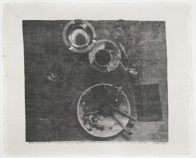 Spoerri, Daniel. Meal Variation 2, eaten by Marcel Duchamp. Fluxus Edition.