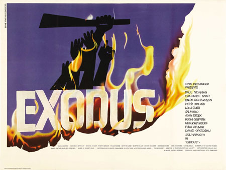Poster for Exodus. 1960. USA. Directed by Otto Preminger. Poster designed by Saul Bass
