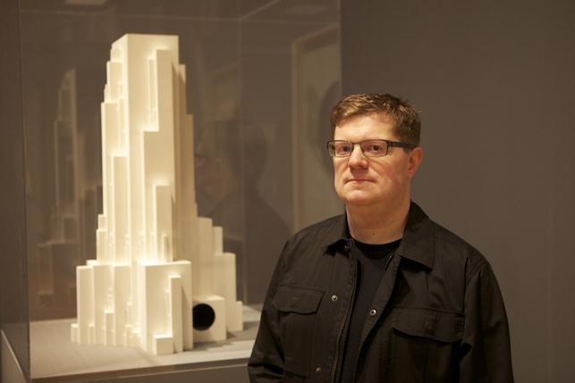 Josiah McElheny with Kazimir Malevich's Gota Architecton