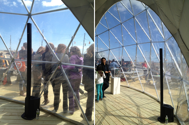 Dome 2 inside out. Photo by Pamela Popeson