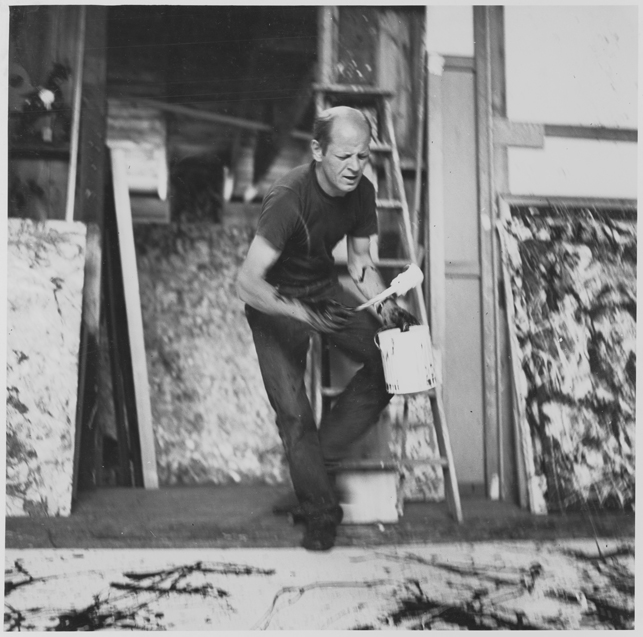 Pollock at work in his studio, 1950. Photo: Hans Namuth