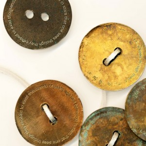 Like Believing in Stars that one sees though they ceased to exist thousands of years ago (bronze coins, 2006). Image courtesy of Caroline Woolard