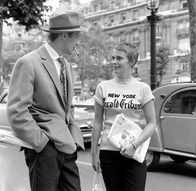 Jean-Paul Belmondo and Jean Seberg in