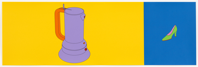 "Michael Craig-Martin. Untitled from Folio. 2004. Portfolio of twelve screenprints. Composition and sheet (each approx.): 12 7/8 x 39 3/8"" (32.7 x 100 cm). Alan Cristea Gallery, London. Advanced Graphics, London, 40. © 2013 U. Streifeneder, Munich / Artists Rights Society (ARS), New York / VG Bild-Kunst, Germany"