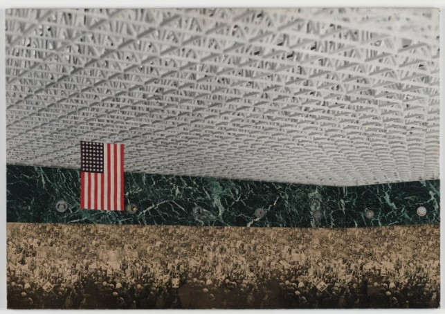 Ludwig Mies van der Rohe, Convention Hall Project, Chicago, Illinois  Preliminary version: interior perspective, 1954