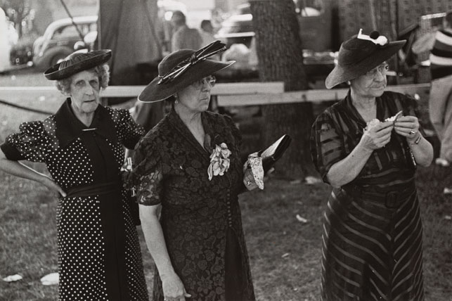 Ben Shahn. Women at Fourth of July Carnival and Fish Fry, Ashville, Ohio. 1938. Gelatin silver print