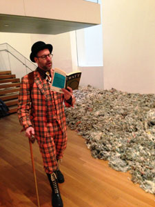 A Guerrila Reading by Stefan Sagmeister. Part of Uncontested Spaces: Guerrilla Readings in MoMA Galleries.  June 5, 2013