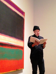 A Guerrila Reading by Rick Moody. Part of Uncontested Spaces: Guerrilla Readings in MoMA Galleries. March 20, 2013