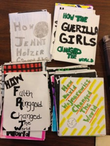 One of my favorite finds at the Read/Write LIbrary: a stack of zines testifying to art's ability to change the world, the result of a school project by local eighth graders.