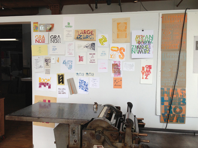 A beautiful old Vandercook letterpress at Spudnik Press Cooperative.