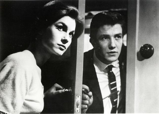 Shirley Anne Field and Albert Finney in Saturday Night and Sunday Morning.1960. Great Britain. Directed by Karel Reisz