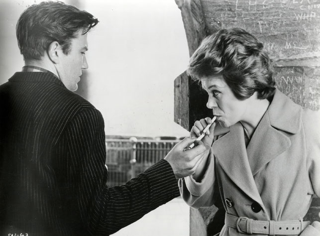 Albert Finney and Rachel Roberts in <i>Saturday Night and Sunday Morning.</i> 1960. Great Britain. Directed by Karel Reisz