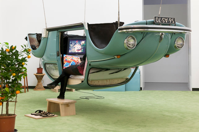 Surasi Kusolwong, Naked Machine (Volkswagen Modern) (2000-2011). Installation view Van Abbemuseum. Photo by Peter Cox. Courtesy of Van Abbemuseum