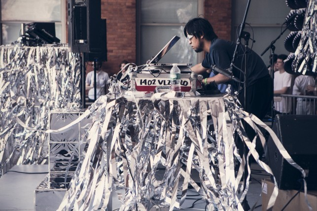 CONFETTISYSTEM stage set design for Warm Up 2013 at MoMA PS1. Photo: Charles Roussel
