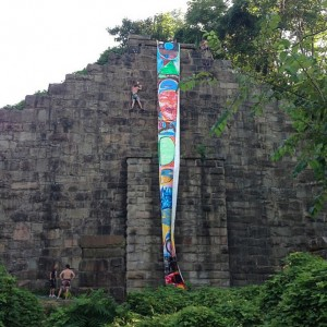 Fort Makers' Action Painting installation