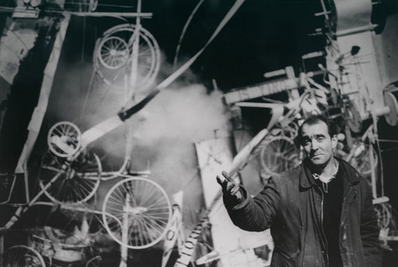 Homage to New York: a Self-Constructing & Self-Destroying Work of Art Conceived and Built by Jean Tinguely. Exhibition Date: March 17, 1960. Photographer: David Gahr