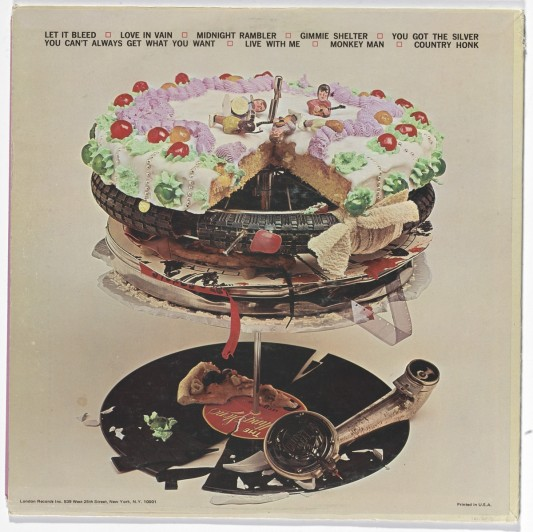 Robert Brownjohn, American, 1926-1970. Let It Bleed.1969. Lithograph. 12 3/8 x 12 3/8″ (31.4 x 31.4 cm)