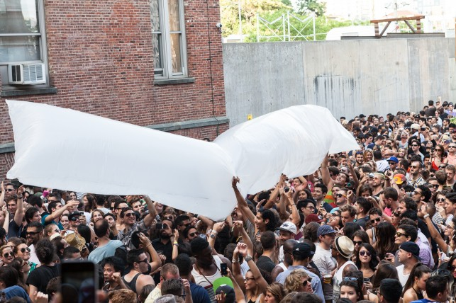Fort Standard inflatables designed for Warm Up 2013 at MoMA PS1. Photo: Charles Roussel