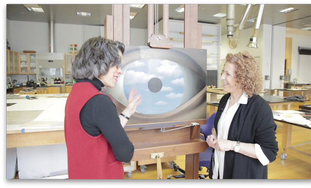 Curator Anne Umland and Conservator Anny Aviram discuss René Magritte's The False Mirror