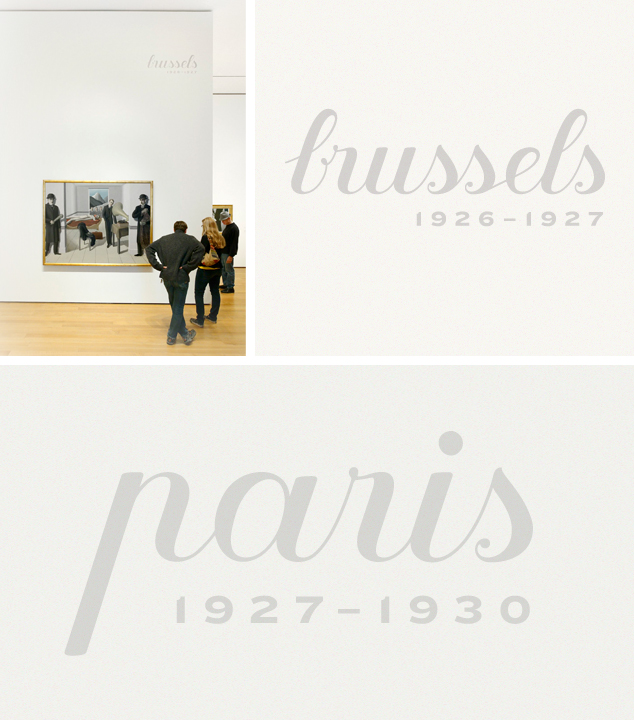 Close up views of lettering in the exhibition galleries
