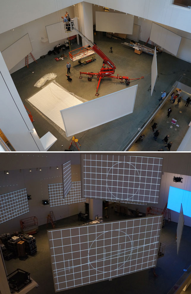 Installation of Isaac Julien's Ten Thousand Waves at MoMA. November, 2013. Photo by Ashley Young