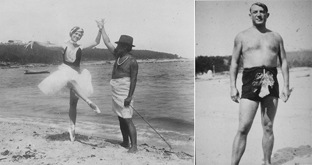 Picasso with his first wife, Olga, who had been a dancer with the Diaghilev company, c. 1923. Sara and Gerald Murphy Papers, Yale Collection of American Literature, Beinecke Rare Book and Manuscript Library © Estate of Honoria Murphy Donnelly/Licensed by VAGA, New York, NY
