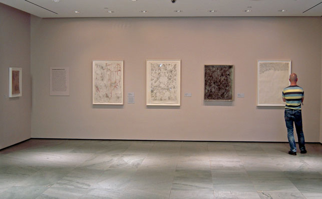 Installation view, León Ferrari homage, The Museum of Modern Art, 2013