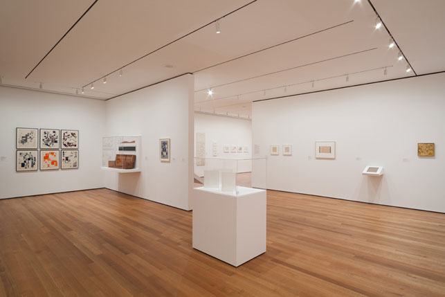 "Installation view of <i>There Will Never Be Silence: Scoring John Cage's 4'33""</i>, The Museum of Modern Art, New York, October 12, 2013–June 22, 2014"