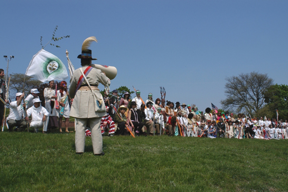 Allison Smith. Troops Drilling at Fort Jay, part of The Muster project. 2005. Photo: Amy Elliot