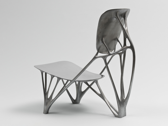 Joris Laarman. Bone Chair, 2006. Aluminum. Manufactured by Joris Laarman Studio (The Netherlands, est. 20