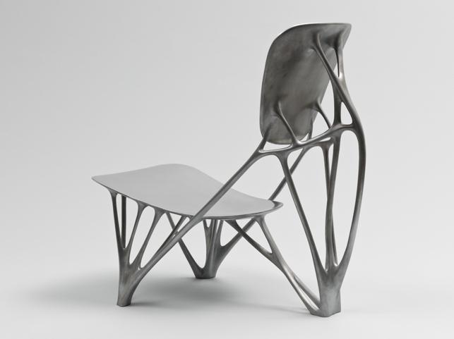 Joris Laarman. Bone Chair, 2006. Aluminum. Manufactured by Joris Laarman Studio (The Netherlands, est. 2006). Gift of the Fund for the Twenty-First Century, 2008. The Museum of Modern Art, New York