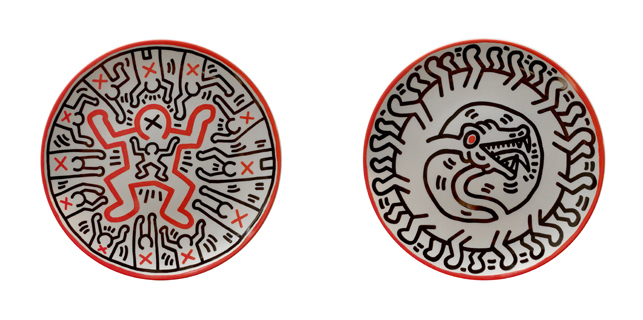 Keith Haring. Untitled 1 (left);  Untitled 2 (right)