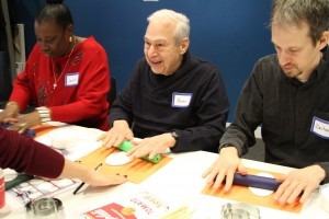 Workshop participants create artwork inspired by Warhol and Kim