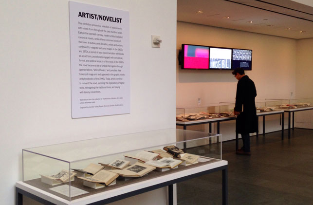 Installation view of Artist/Novelist, The Museum of Modern Art, January 8–March 31, 2014. Photo: Jennifer Tobias