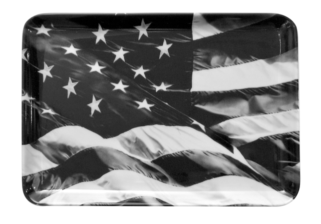 Robert Longo. American Flag tray