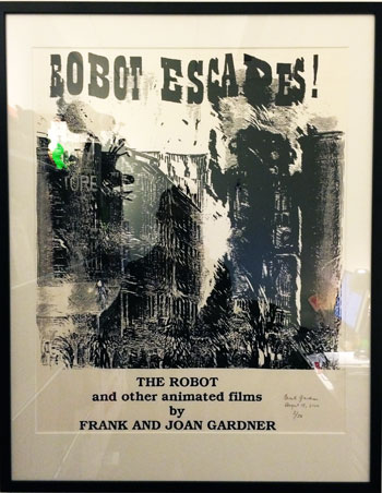 poster for a screening Frank and Joan Gardner's short films
