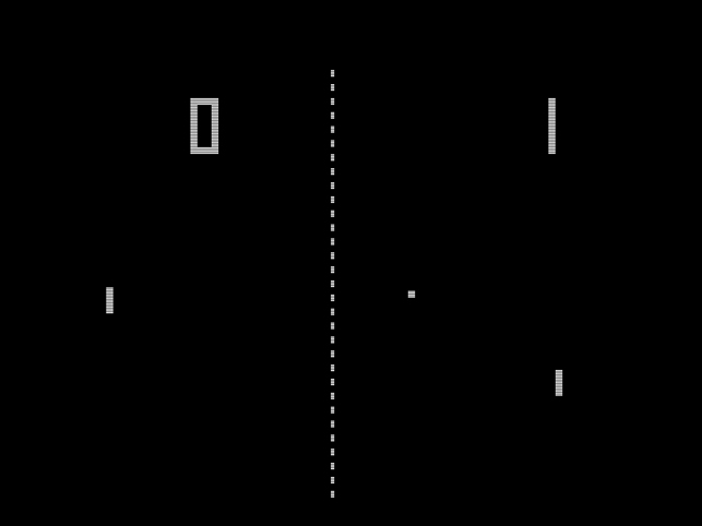 Allan Alcorn of Atari, Inc. (USA, est. 1972). Pong. 1972. Published by Atari, Inc. (USA, est. 1972). Gift of Atari Interactive, Inc., 2013. Image © 2014 Atari, Inc.
