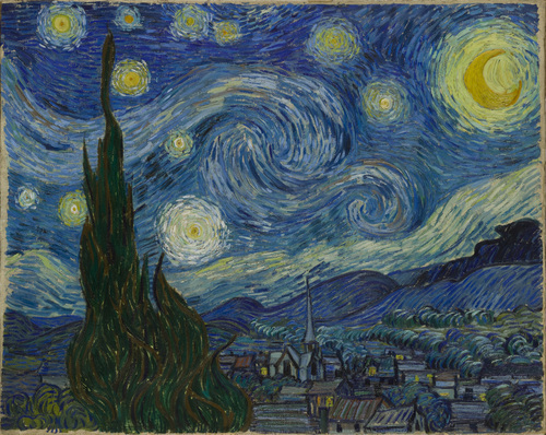 Vincent van Gogh (Dutch, 1853–1890), The Starry Night, Saint Rémy, June 1889. Oil on canvas