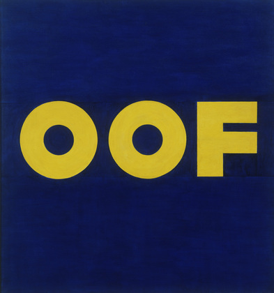 Edward Ruscha (American, born 1937) OOF, 1962 (reworked 1963). Oil on canvas