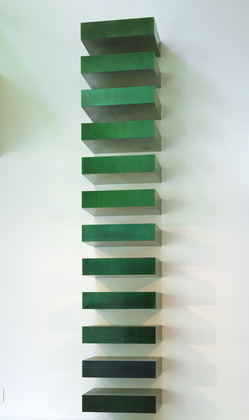 Donald Judd (American, 1928–1994). Untitled (Stack). 1967, Lacquer on galvanized iron