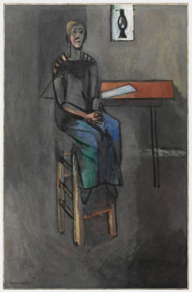 Henri Matisse (French, 1869–1954) Woman on a High Stool (Germaine Raynal), early 1914. Oil on canvas