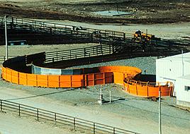 View of Temple Grandin's Serpentine Ramp. Image courtesy of grandin.com