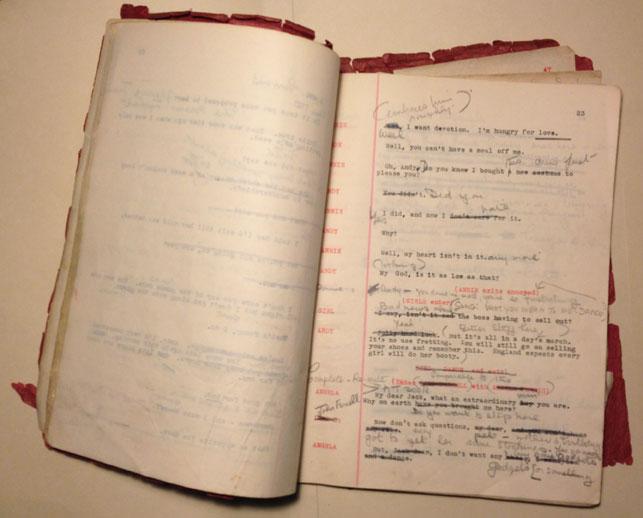 The Apple Tree Farm script. Photo: Jason Persse