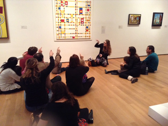 "While listening to Jazz music, Educator says: ""Make your fingers jump when you get to a square."" Photo: TK"