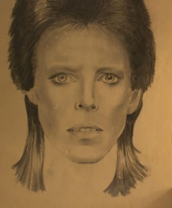 Portraits of David Bowie (l) and Ringo Starr (r) by Karni Krikoryan