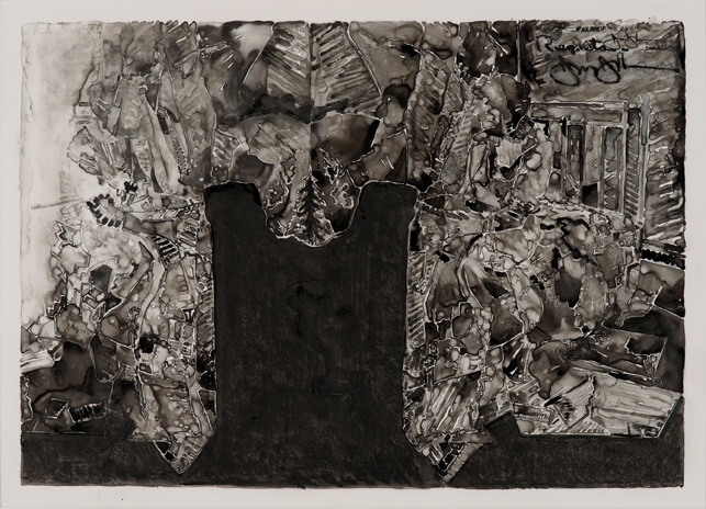 "Jasper Johns. Untitled. 2013. Ink on plastic, 27 1/2 × 36"" (69.9 × 91.4 cm). The Museum of Modern Art, New York. Promised gift from a private collection. © Jasper Johns/Licensed by VAGA, New York, NY. Photo: Jerry Thompson"
