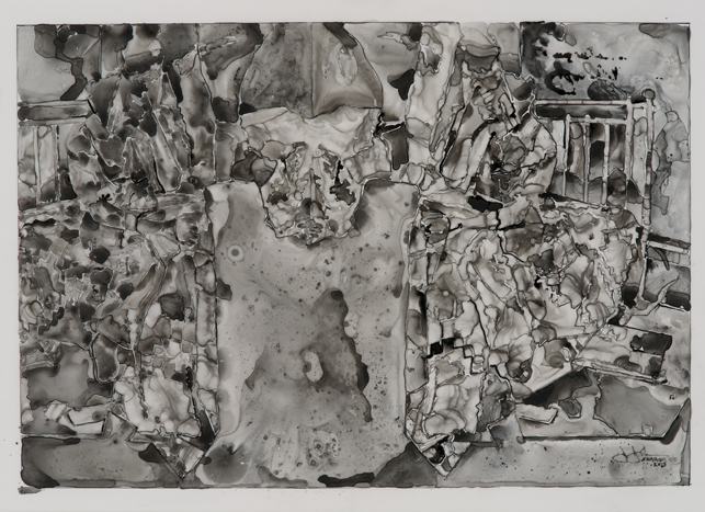 Jasper Johns. Untitled. 2013. Ink on plastic, 27 1/2 × 36″ (69.9 × 91.4 cm). The Museum of Modern Art, New York. Promised gift from a private collection. © Jasper Johns/Licensed by VAGA, New York, NY. Photo: Jerry Thompson