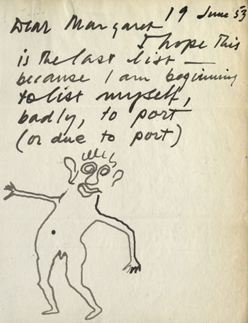 Letter from Alexander Calder to Museum staff, dated June 19, 1953. IC/IP, I.A.388. The Museum of Modern Art Archives