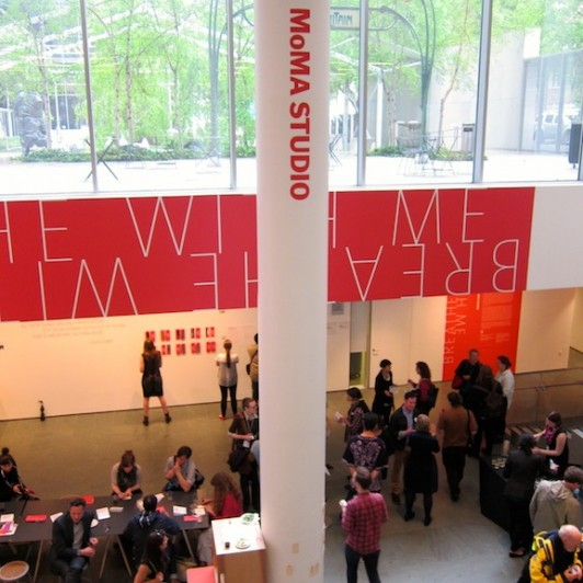 MoMA Studio: Breathe with Me Opening event on Friday, May 16, 2014. Photo by Sarah Kennedy, MoMA staff member.